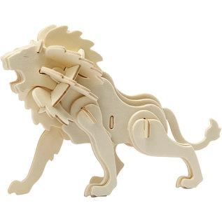 3D Puzzel Leeuw afm 18,5x7x7,3cm triplex 1st.
