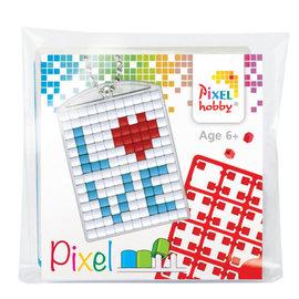 Pixel medaillon startset Love