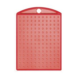 Pixels basisplaat Medaillon transparant rood