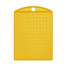Pixels basisplaat Medaillon transparant Geel