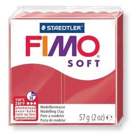 FIMO Soft Boetseerklei 57g. Kersrood