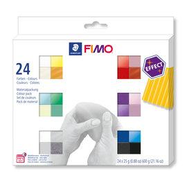 Fimo effect set - Colour pack 24st.