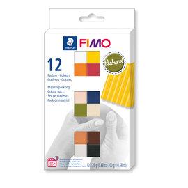 Fimo soft set - colour pack 12 natural colours