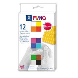 Fimo soft set - colour pack 12 Basic colours