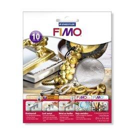 Fimo Bladmetaal zilver 10 vel