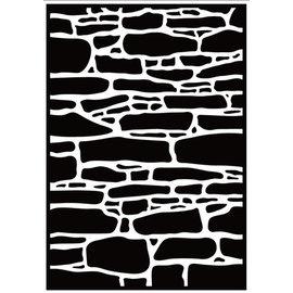 Embossing folder Stone wall