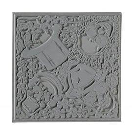 Textuurmat skulls 90x90mm