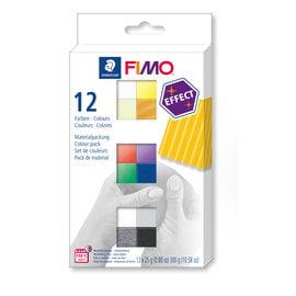 Fimo Effect Set -colour pack 12 st.