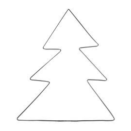 Metalen frame - dromenvanger kerstboom 23x28cm Grijs