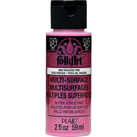 FolkArt Multi-surface Glitter Paradise Pink 59ml