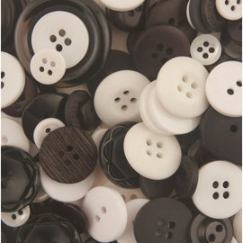 Knopen - Buttons Galore color blends cookies & cream +/- 75st.
