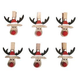 Rayher Houten kersteland op knijper