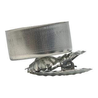 Boomkaarshouder voor waxinelichtjes zilver 4st.