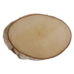 Berken schijf ovaal natuur, 21-23cm x 2cm