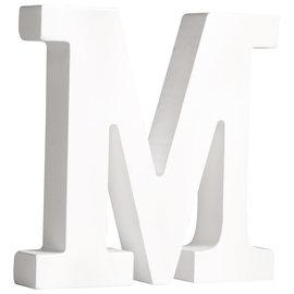 """Letter 11cm """"M"""" Wit"""