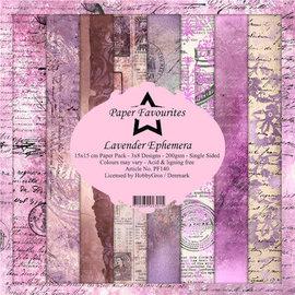 Paper Pack 15x15 cm Lavender Ephemera