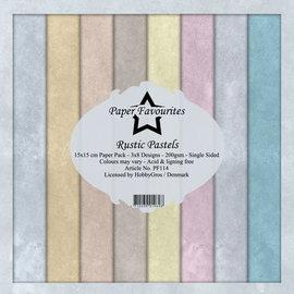 Paper Pack 15x15 cm Rustic Pastels