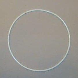 Metalen dromenvanger ring gelakt wit 30cm