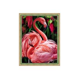 Diamond Painting Kit / Flamingo Couple 30x40cm