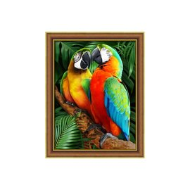 Diamond Painting kit 30x40cm Macaws in the Jugle