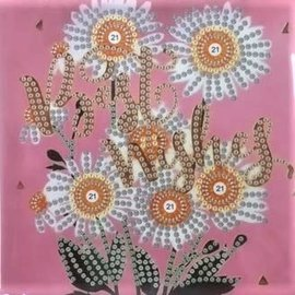 Diamond Painting kaart - Best Wishes Bloemen