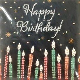 Diamond Painting kaart - Happy Birthday Kaarsen