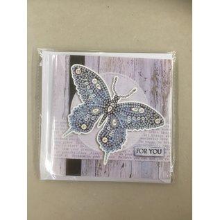 Copy of Diamond Painting kaart - Thank you Vlinder