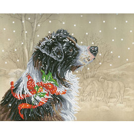 Diamond Dotz® - 50x40cm Christmas Collie