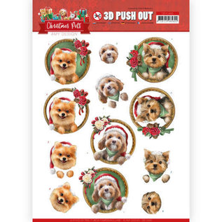 3D Push Out - Amy Design - Christmas Pets - Christmas dogs