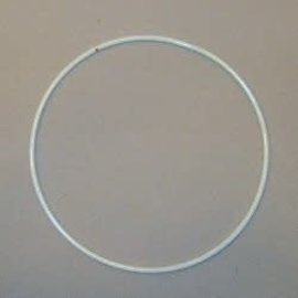 Metalen dromenvanger ring bedekt 35cm Wit