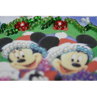 Borduren met parels Happy New Year  8 x 7 cm