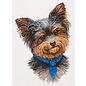 Borduurpakket Yorkshire Terrier 19 x 26 cm