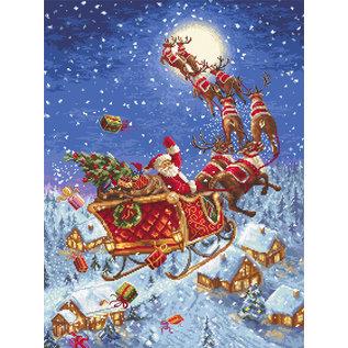 Borduurpakket The Reindeers on its Way! 40 x 30 cm