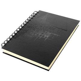 Dummyboek Kangaro A5 Wire-o cream hard cover 80 blad 140grs zwart design
