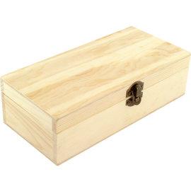 Hobbybox beukenhout ongelakt, 21x10x6,2cm