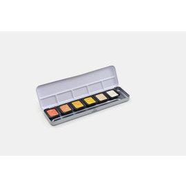 verftablet 30mm metallic kleuren 6 stuks Finetec