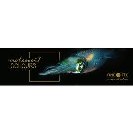 Verftablet 30mm iriserende kleuren 6 stuks Finetec