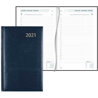 AGENDA 2021 13.5X21.5 GENAAID 1D/BL BLAUW