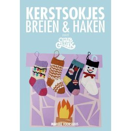 Boek - Kerstsokjes breien en haken met Club Geluk Club Geluk