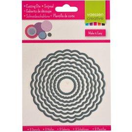 Shape cutting x8 dies circles scallop