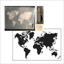 Darice Embossing folder world map