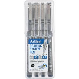 Artline Etui 4st. 0.1-0.3-0.5-0.7mm
