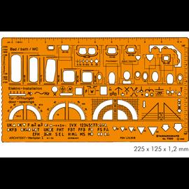 Tekensjabloon architect 7300