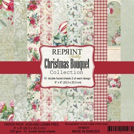 Paperpack size 8x8 200gsm Christmas Bouquet Collection