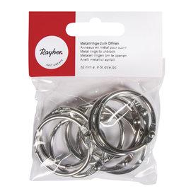 Metalen ringen om te openen, 32 mm, 9 st.