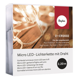 Rayher Micro LED-lichtstreng met draad 2,2m