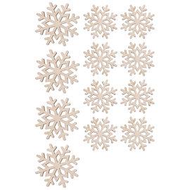 Rayher Stooihoutjes Sneeuwvlokken 4x3,8cm + 8x3cm
