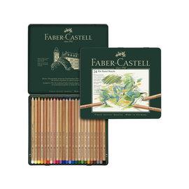 Faber-Castell Pastelpotlood Faber-Castell Pitt metalen etui a 24 stuks