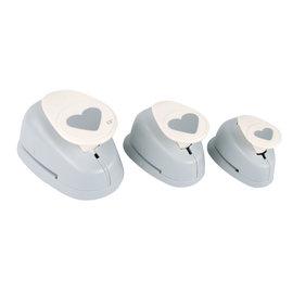 Motiefponsen: Hartvorm, 1,6cm+2,54cm+3,81cm, 3st.