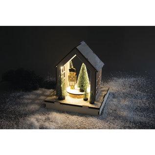 """Rayher 3D houten bouwset """"Huis"""" met draaischijf"""